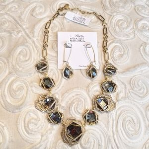 Badgley Mischka necklace and earrings set